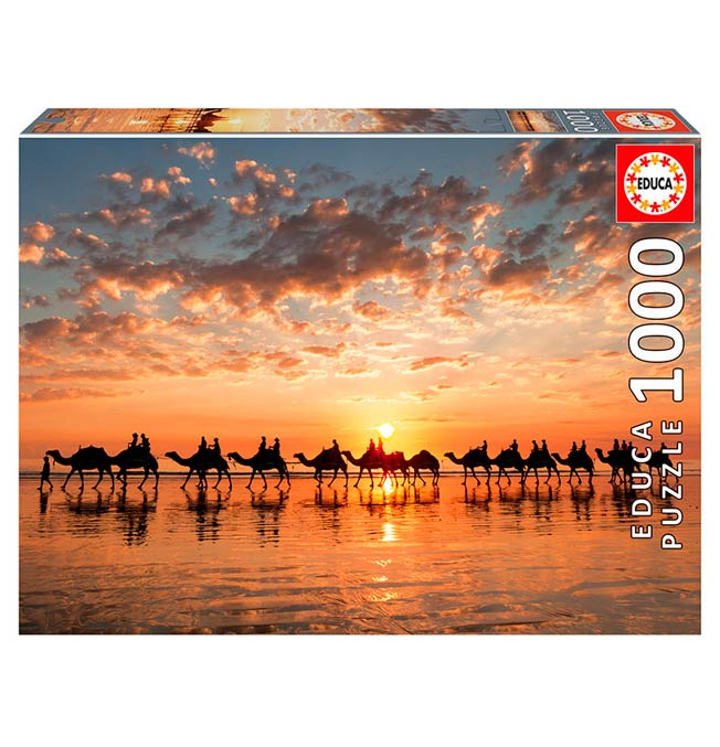 Golden Sunset on Cable Beach, Australia - Puzzle 1000 pieces