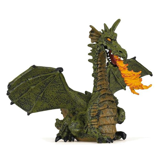 Green Winged Dragon with Flame