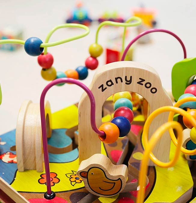 B. Woody - Zany Zoo Wooden Activity Cube
