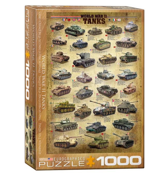 World War II Tanks - Puzzle 1000 pieces