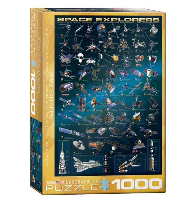 Space Explorers - Puzzle 1000 pieces