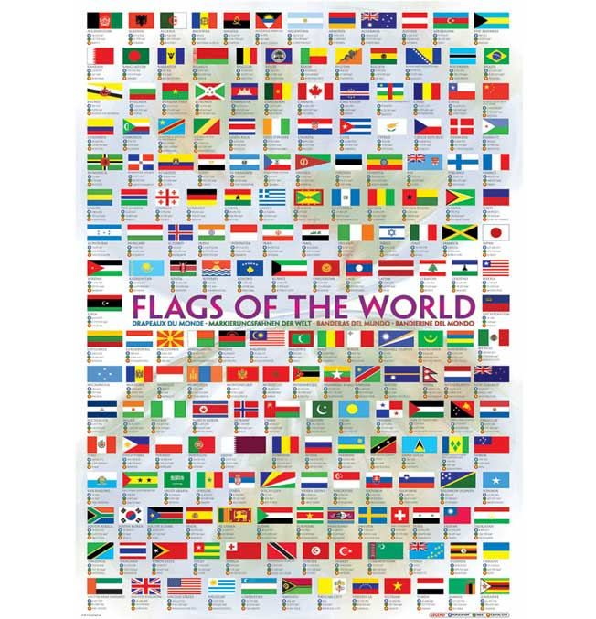Flags of the World - Puzzle 1000 pieces