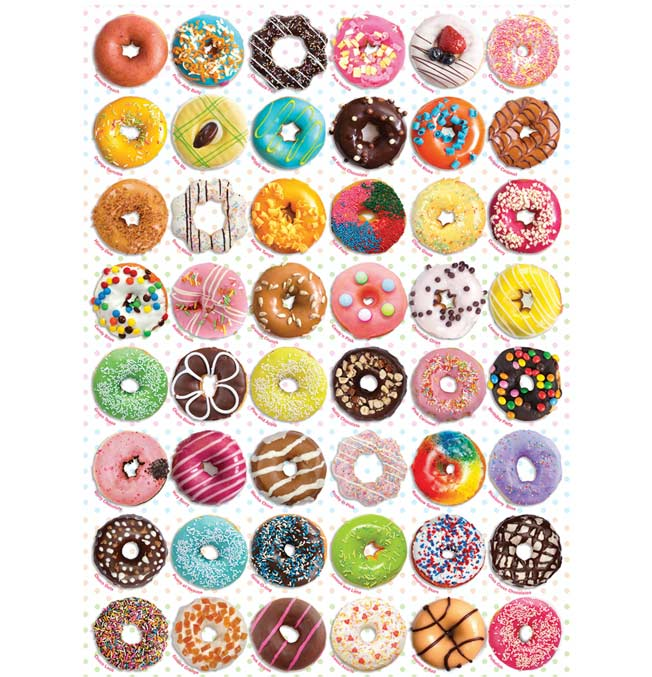 Donuts Tops - Puzzle 1000 pieces