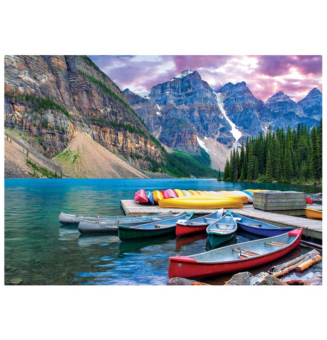 Canoes on the Lake - Puzzle 1000 pieces