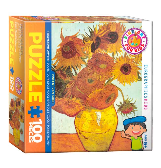 Twelve Sunflowers - Puzzle 100 pieces