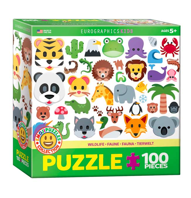 Emoji Puzzle-Wild Animals - Puzzle 100 pieces