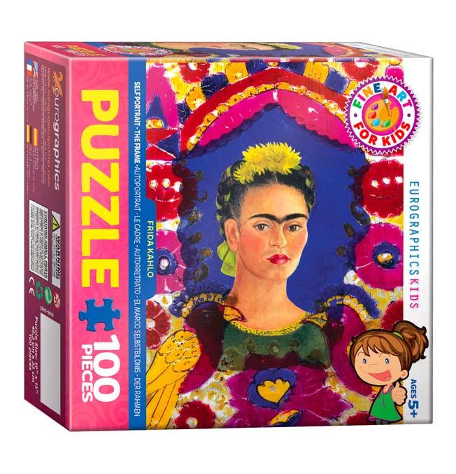 Frida Kahlo - Self Portrait - The Frame - Puzzle 100 pieces