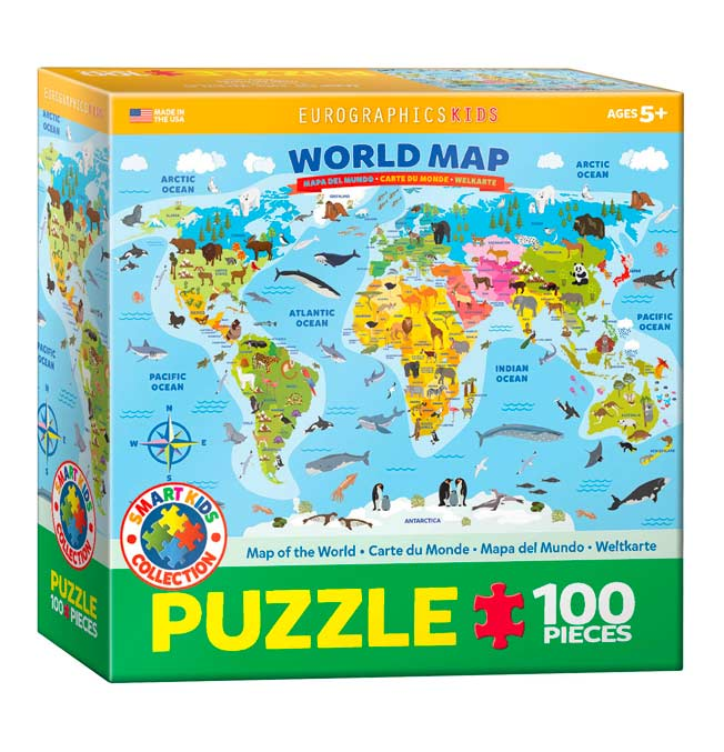 Illustrated Map of the World - Puzzle 100 pieces
