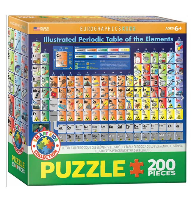 Illustrated Periodic Table of the Elements - Puzzle 200 pieces