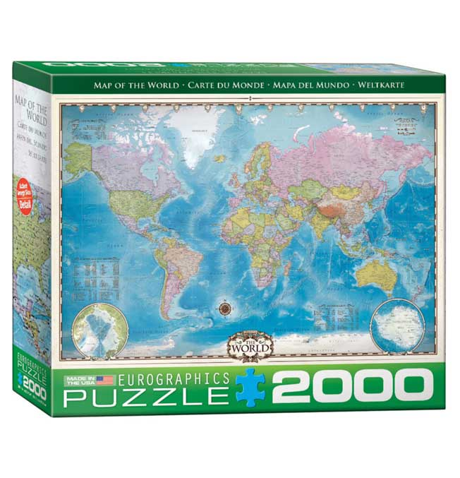 Map of the World - Puzzle 2000 pieces
