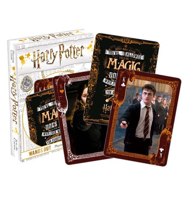 Harry Potter -  Wands Out Playing Cards
