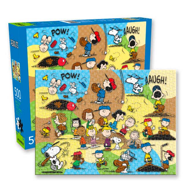 Peanuts Baseball Team Puzzle 500 pieces