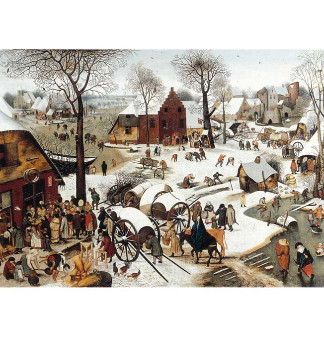 The Census of Bethlehem - Bruegel - Puzzle 1500 pieces