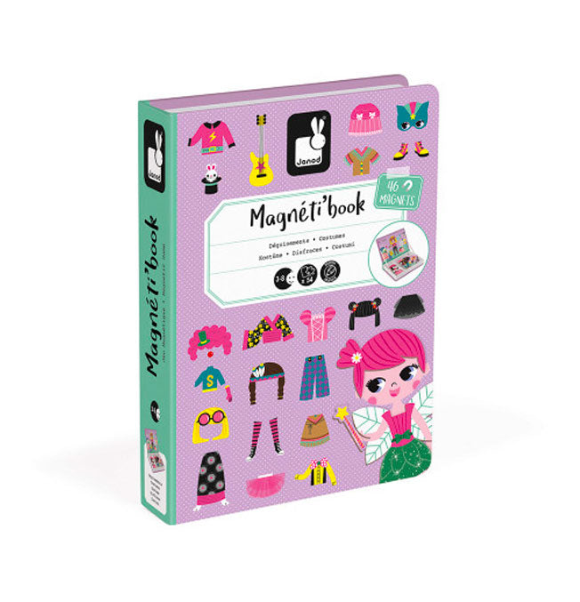 Girl's Costumes Magneti'Book - 46 magnets