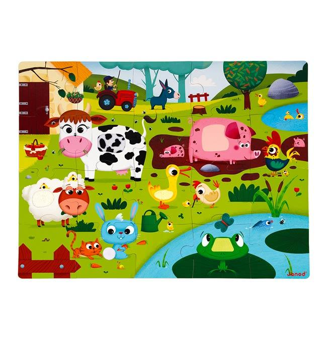 Tactile Puzzle 'Farm Animals' 20 pcs