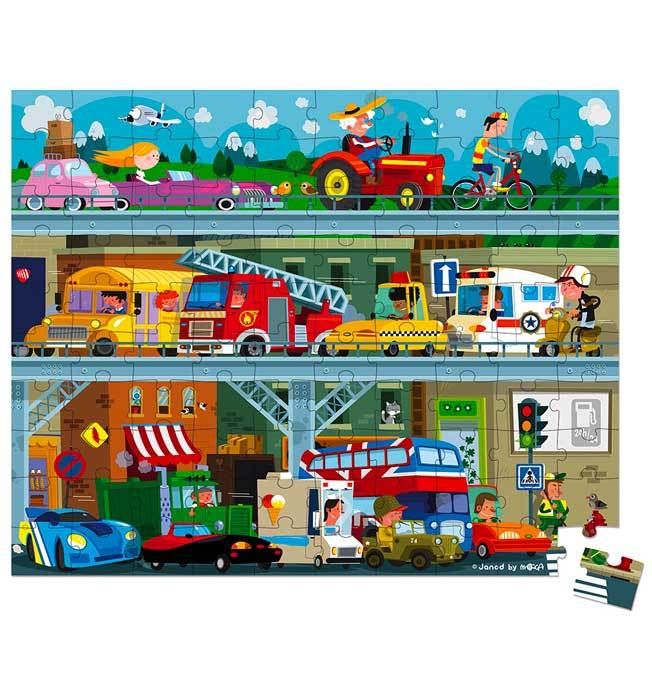 Vehicle Puzzle 100 pcs