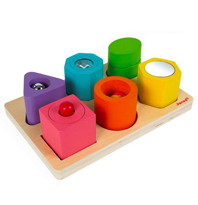 Iwood Shapes & Puzzle - 6 Blocks