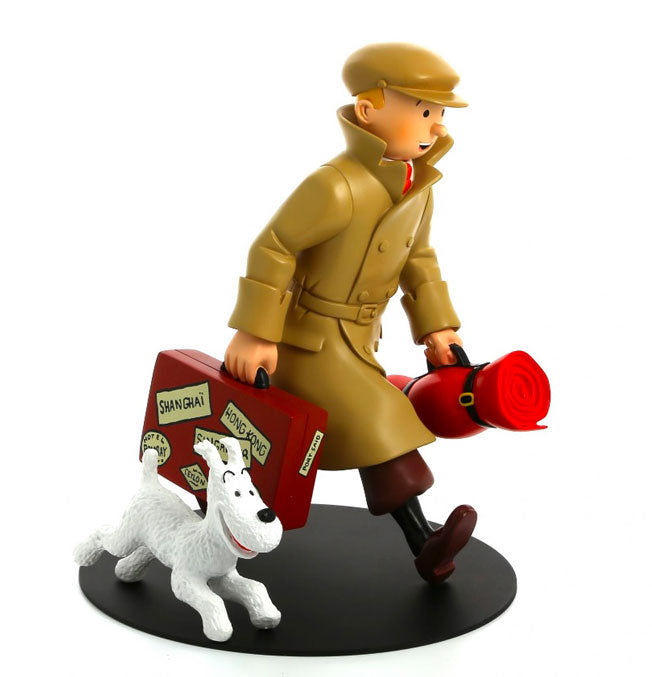"""Homecoming"" figurine Tintin and Snowy"