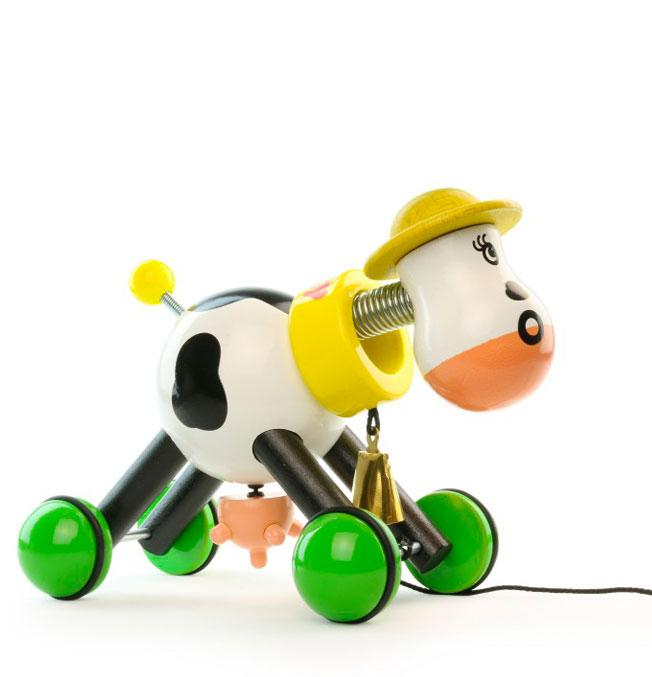 Pull Toy Rosy Cow