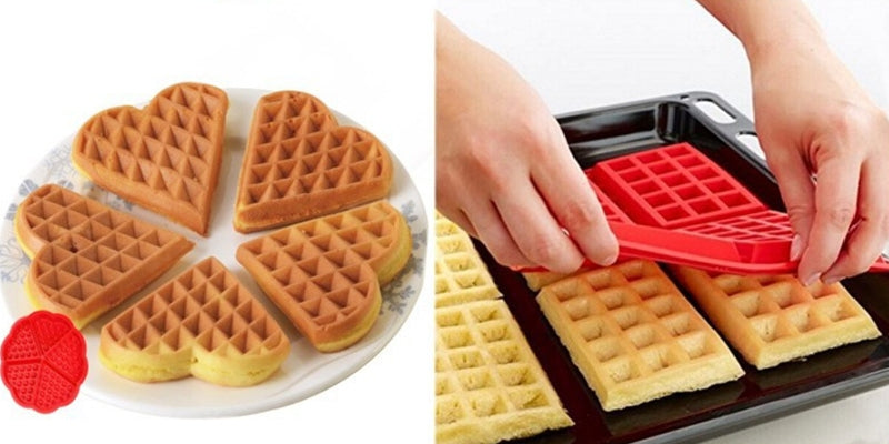 moule silicone gaufre rouge