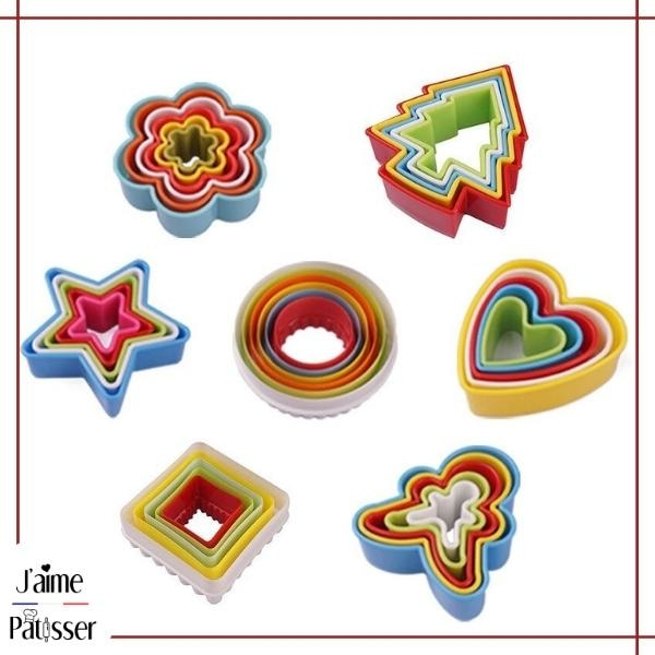 Emporte Piece Biscuit en couleur (lot de 5 ou 6)