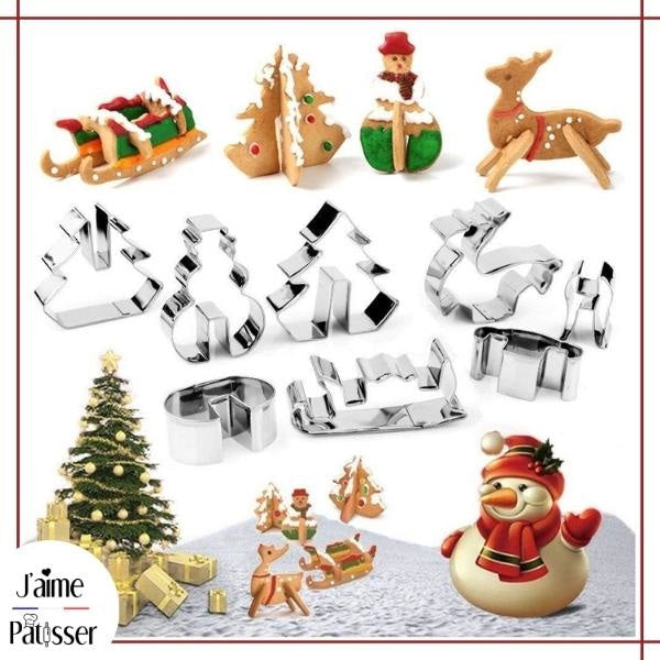 Emporte Piece Biscuit - Noel (Lot de 8)