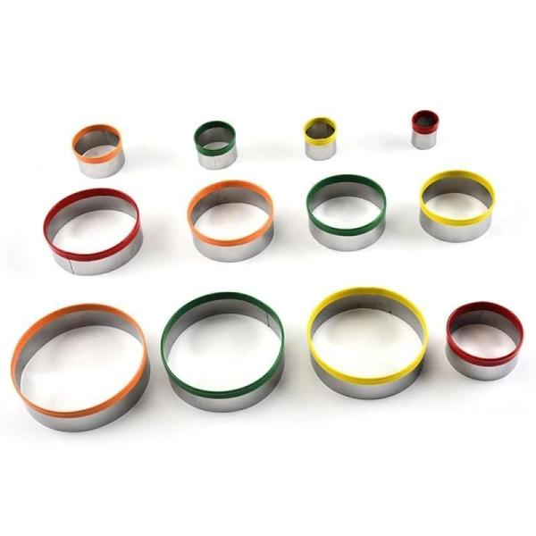 Emporte Piece Rond Couleurs - Lot de 12
