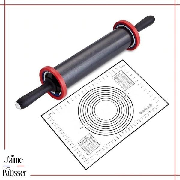 Kit Patisserie - Rouleau Ajustable + Tapis 40x30cm