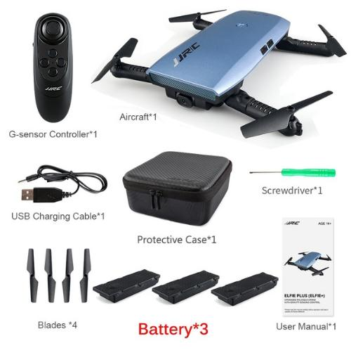 Foldable RC Pocket Selfie Drone With G-Sensor Controller