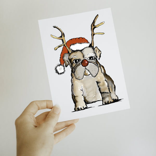 Bully Jingle Christmas Greeting Card
