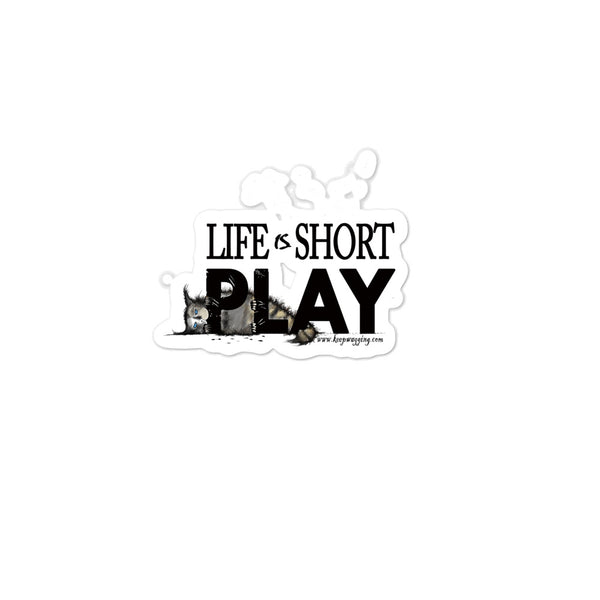 Life Is Short Play - Kitten stickers