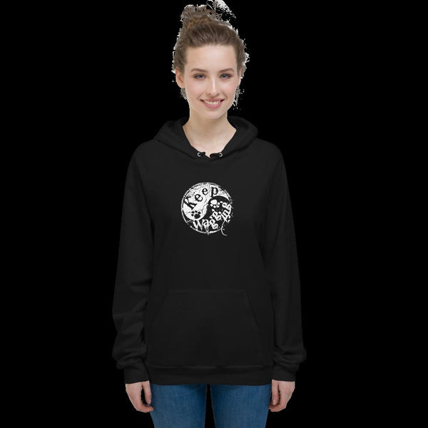 Keep Wagging Yin Yang Unisex Fleece Hoodie