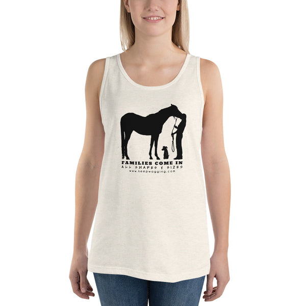 Unisex Families Horses and Dogs Tank Top