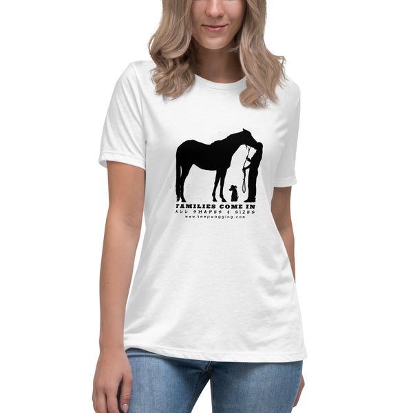 Families Come in all shapes and Sizes Equine Relaxed T-Shirt