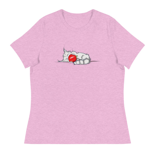 Women's Relaxed Kitten Christmas T-Shirt