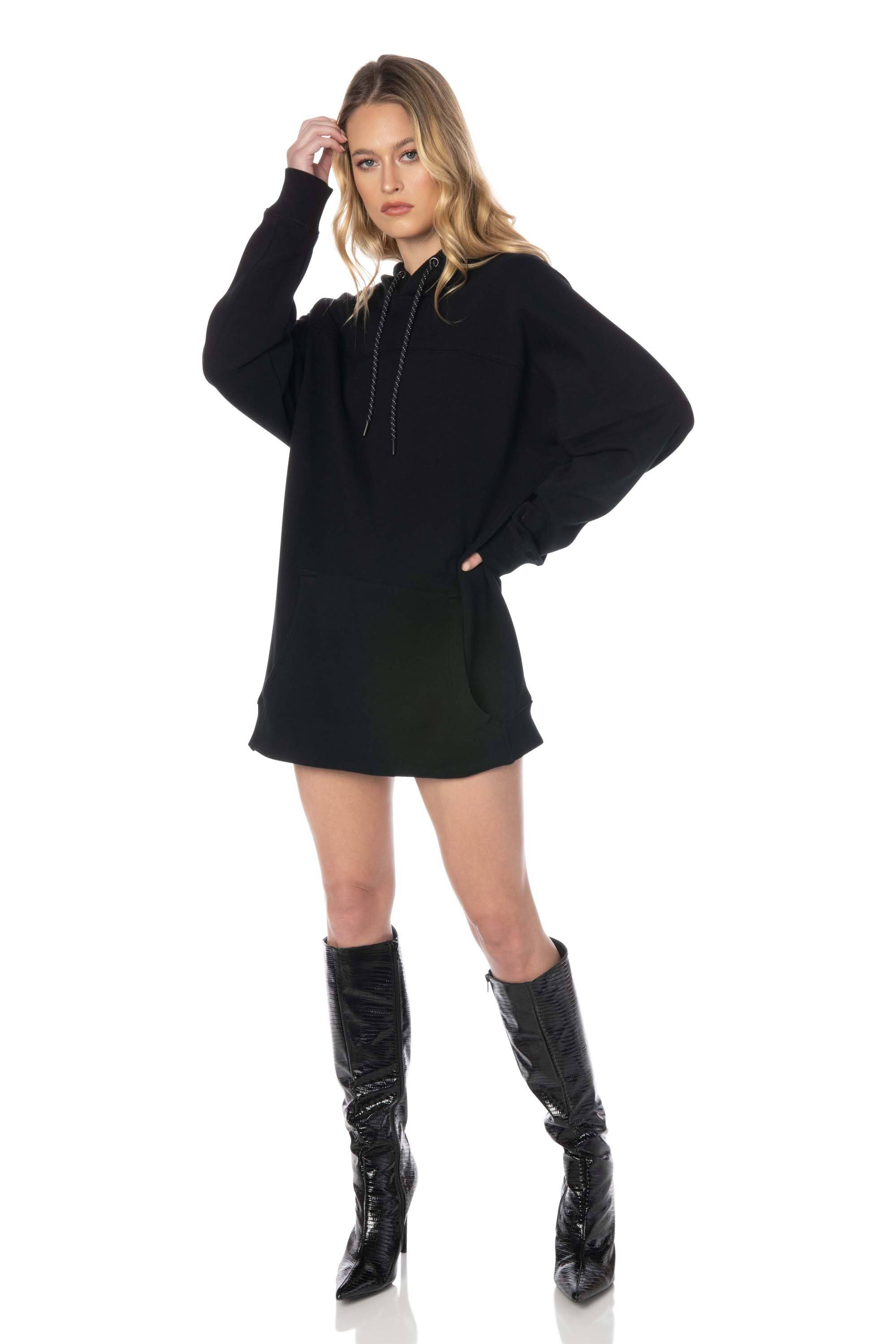 Black Pullover Hoodie - Hypeach Lounge Tops HYPEACH
