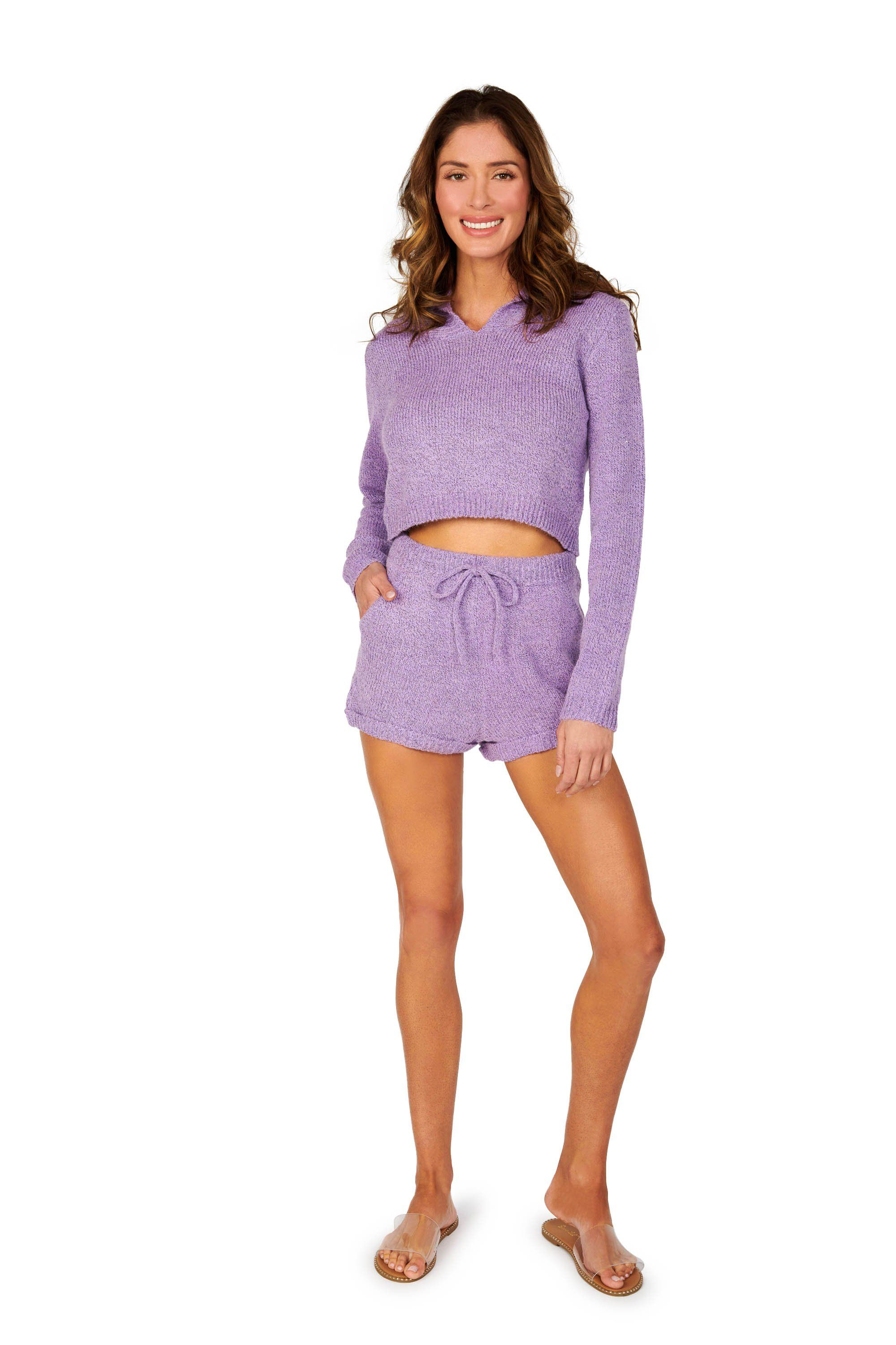 Boyfriend Sweater Brief Purple Shorts Bottoms HYPEACH BOUTIQUE