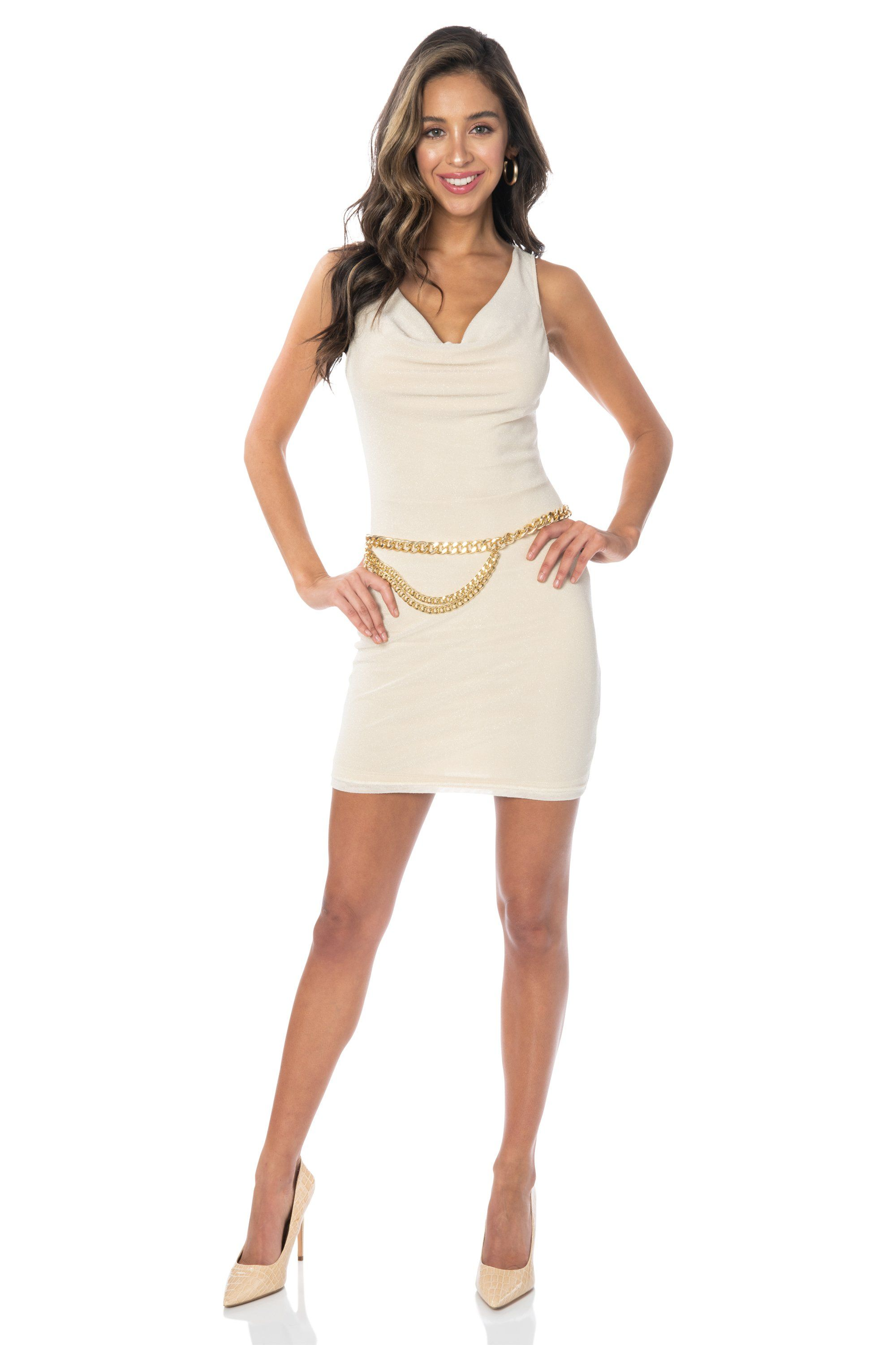 Brasilera Mini Beige Dress - FINAL SALE Dresses HYPEACH BOUTIQUE