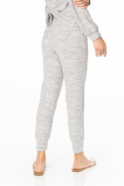 Brushed Grey Lounge Wear Bottom Bottoms HYPEACH BOUTIQUE