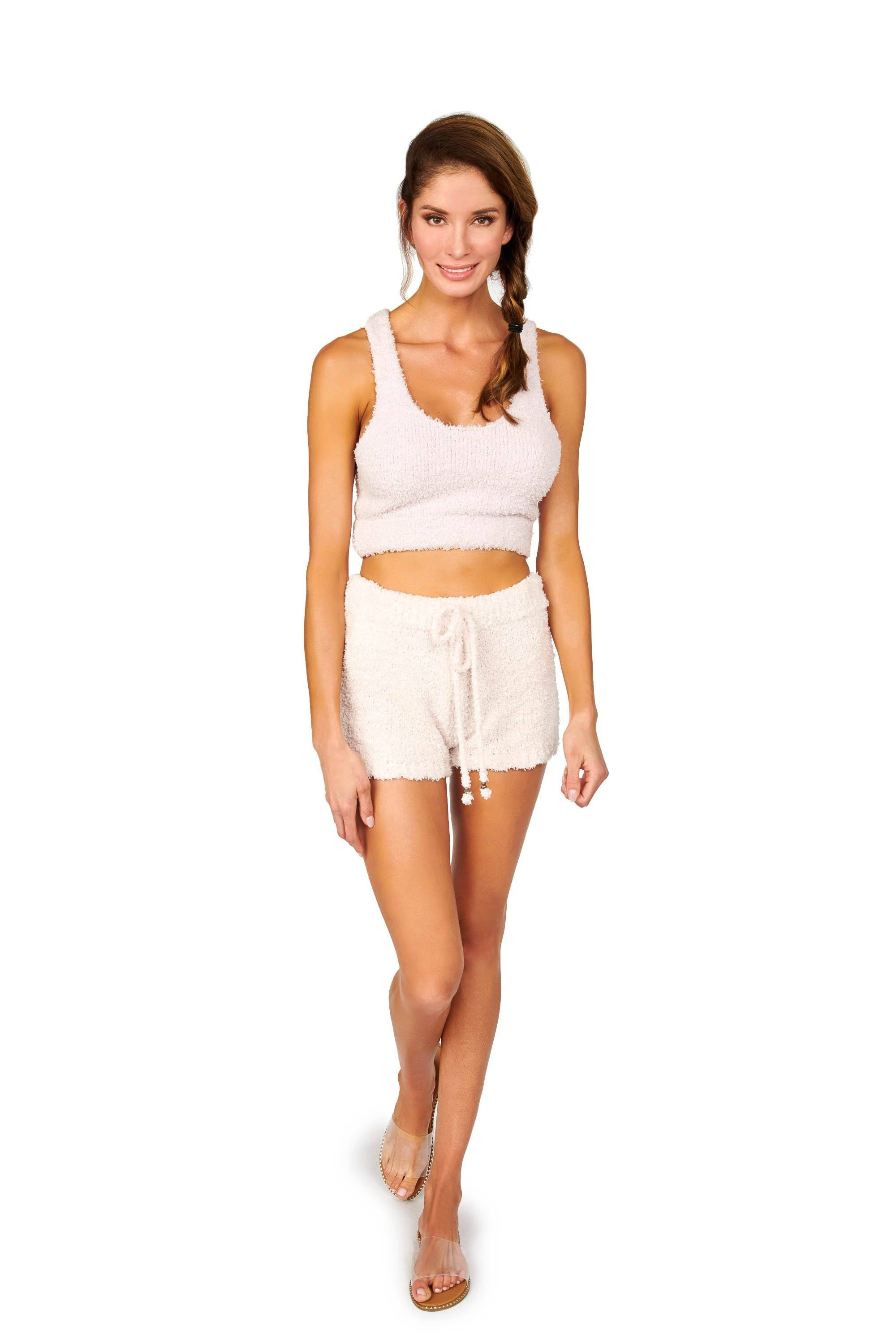 Comfy Loungewear Powder Pink Shorts Bottoms HYPEACH BOUTIQUE