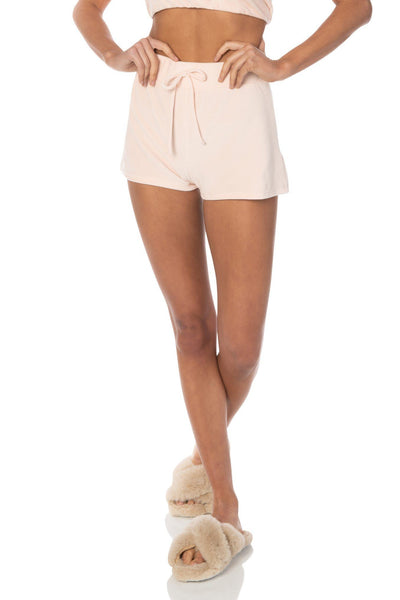 Cozy Terry Shorts Pink Bottoms HYPEACH