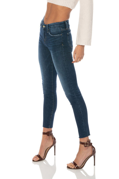 Flying Monkey Mid Rise Dark Wash Skinny Jeans Denim HYPEACH BOUTIQUE