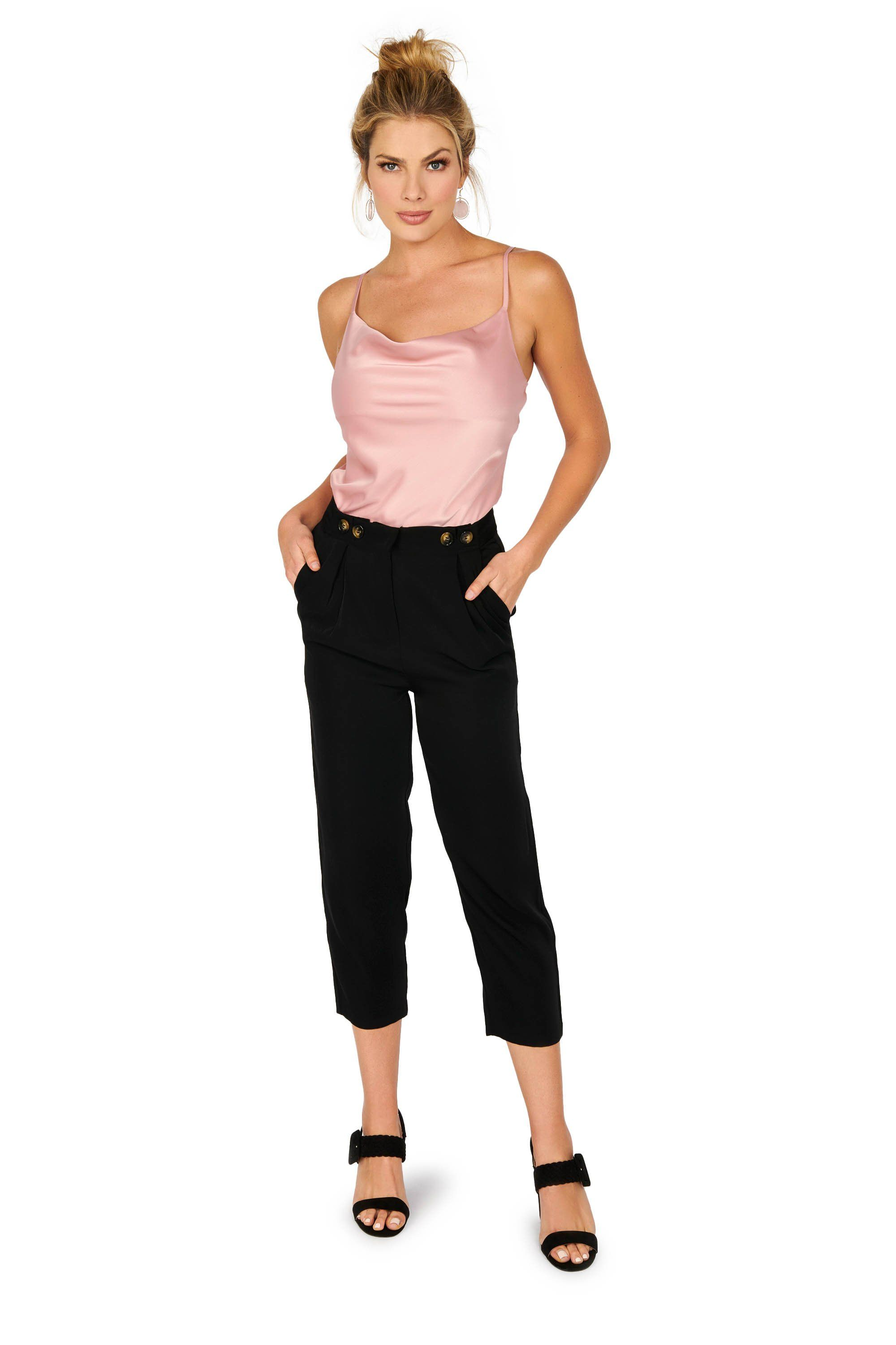 High Waist Cropped Trousers Bottoms HYPEACH BOUTIQUE