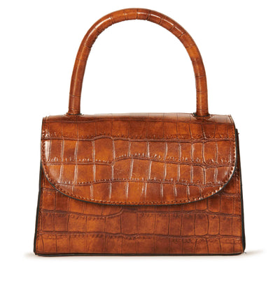 Hypeach Crocodile Brown Mini Box Handbag Accessories HYPEACH BOUTIQUE