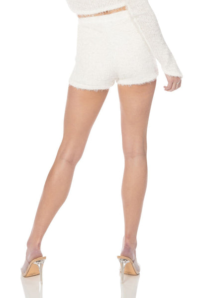 Irresistible Eyelash Knit Shorts White Bottoms HYPEACH