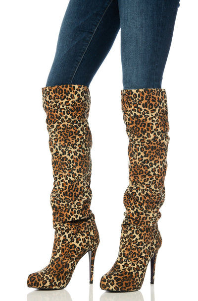 Leopard Knee-High Boots Shoes HYPEACH