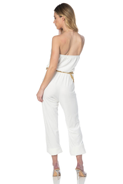 Let's Playdate Velour Ivory Jumpsuit Rompers & Jumpers HYPEACH BOUTIQUE