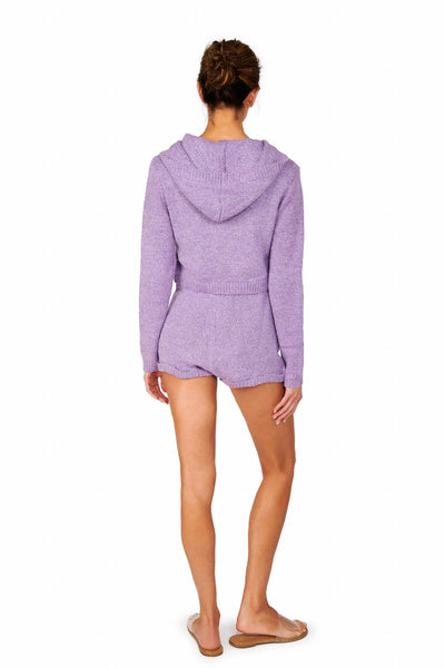 Long Sleeve Cropped Hoodie Lilac Sets HYPEACH BOUTIQUE