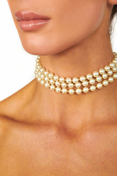 Long Strand Necklace with Pearls and Gold Beads Accessories HYPEACH BOUTIQUE
