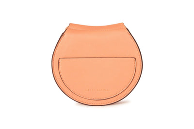 Melie Bianco Peach Vegan Leather Saddle Crossbody Accessories HYPEACH BOUTIQUE